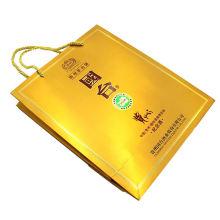 Wholesale recycled custom logo printed art paper shopping bag new design promotion luxury kraft paper gift bag