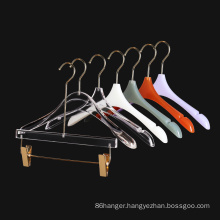 High quality crystal clear plastic acrylic coat hanger for clothes