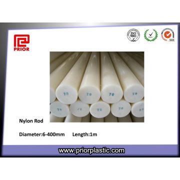 Tige en plastique de nylon de couleur naturelle à haute densité