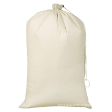 Custom Cotton Laundry Bag With Drawstrings Durable Washable Laundry Bag