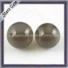 Brown Color Round Shape Cubic Zirconia String Beads