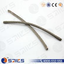 Câble métallique électro-galvanisé en acier au carbone