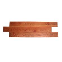 Piso SPC composto de madeira maciça de carvalho vermelho marrom