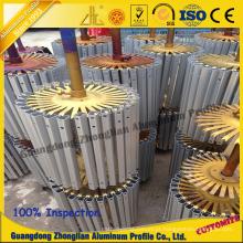 Perfis de alumínio anodizados do revestimento do tratamento de superfície