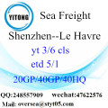 Shenzhen port sea freight shipping ke Le Havre