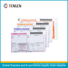 Courier NCR Paper Waybill with Tracking Barcode