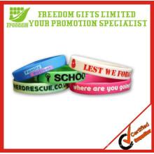 Vente chaude cadeaux promotionnels logo personnalisé imprimé bracelet en caoutchouc