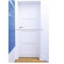 Porta interior de madeira nova do abanador branco do projeto