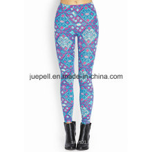 Abstract Geo Leggings with Elasticized Waist