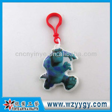 Promotional Cartoon Shape PVC Film Keychain
