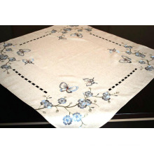 Polyester Table Cover Handmade Cutwork Fh239