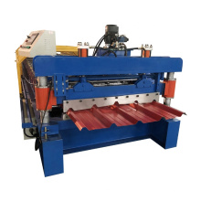 Low price of roll forming machine trapezoidal metal trapezoidal roofing sheet making machinery trapezoidal roof tile