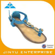 Azul De Pavo Real De La Muchacha Zapatos