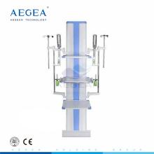 Una columna de pie suelo tres estantes médicos icu colgantes para la venta