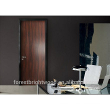 Apartment black walnut veneer wooden office room doors