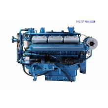 12 Cilindro, 330kw, Motor Diesel Shanghai Dongfeng para Grupo Gerador