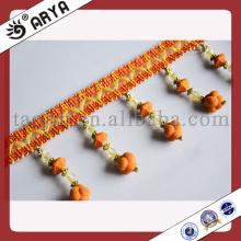Mode Acryl Perlen FringeTrim für Vorhang, Polyester Garn Trimmen von Vorhang Zubehör
