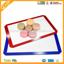 Shenzhen fabricante profissional Eco-friendly Food Grade Resistente ao calor antiaderente Fiberglass Silicone Baking Mat Set 2