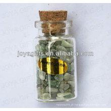 Green Aventurine chip coleção de pedras preciosas em garrafa