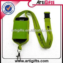 Wholesale cordón de la bolsa de teléfono móvil de poliéster