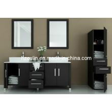 Double Sink Solid Wood Modern Bathroom Vanity (BA-1123)
