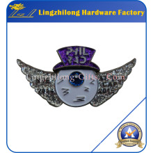 Wing Logo Silver Glitter Badge for Sale