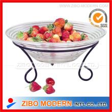 Стеклянные пластины для фруктов с подставкой для железа