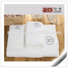 Hot Sale High Quality Cotton 16s Wholesale White Luxury Bath Towel