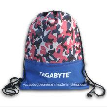 Saco de mochila de cordão esportivo 600d