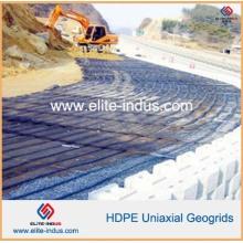 PP HDPE Pet Fibra de vidrio Fibra de vidrio Uniaxial Geogrids