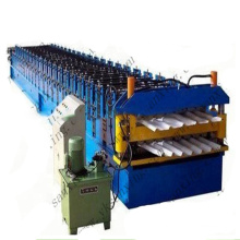 double layer galvanized  roof roll forming machine