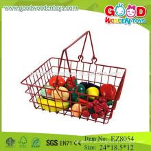 Brinquedos de frutas de madeira brinquedos de cesta de frutas brinquedos de frutas