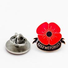 Wholesale Custom Metal Soft Enamel Poppy Flower Lapel Pins