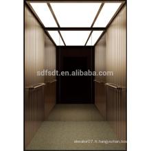 Ascenseur de passagers / ascenseur résidentiel de la technologie du Japon, manufacture d'ascenseurs à passagers 1,5 m / s
