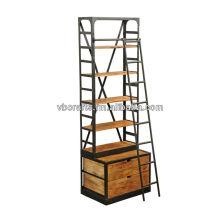 Industrial Bookcase Riesige große Größe mit Leiter