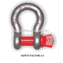 Competitive price High Tensile Forged Big Bow Shackle G209- S209
