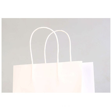 Custom Logo Handgjord Kraft Paper Bag med rep