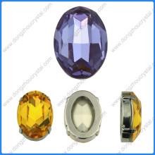 Strass ovale à facettes pour accessoires de chaussure et cristal (DZ-3002)