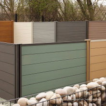 Outdoor Fence Whole Set Size 1.8 M X 1.8 M (6 X 6 FT) Composite Fence Panel Wood Composite WPC Decorative Garden Fence