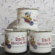 esmalte personalizado canecas copos revestidos de cão