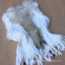 Fashion costume with real fur vest