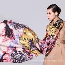 Fashion floral print handmade 100% wool winter muffler