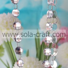 Diamond Cut Bead Garland For Hanging Wedding Decor Crystal Acrylic Glass Clear Bead Garland Strands Chains Chandelier Curtain