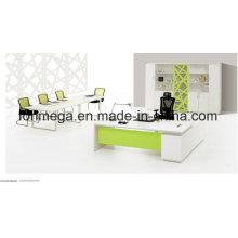 Juego de mesa ejecutivo de oficina en forma de L blanco (FOH-ED-M2420)