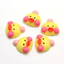 Very Very Lovely Yellow Little Duck Head Cabochons Flatback Animal Head Slime Charms Flatback Hair Bow Center Craft Embellish