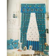 Home Use cortina de tecido de poliéster rosa EDM5355