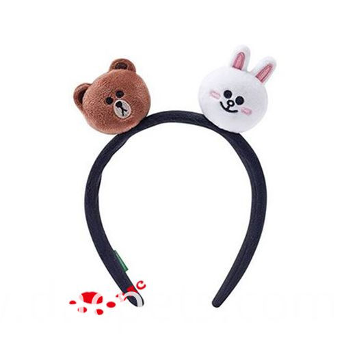 bear ans rabbit two heads hairband