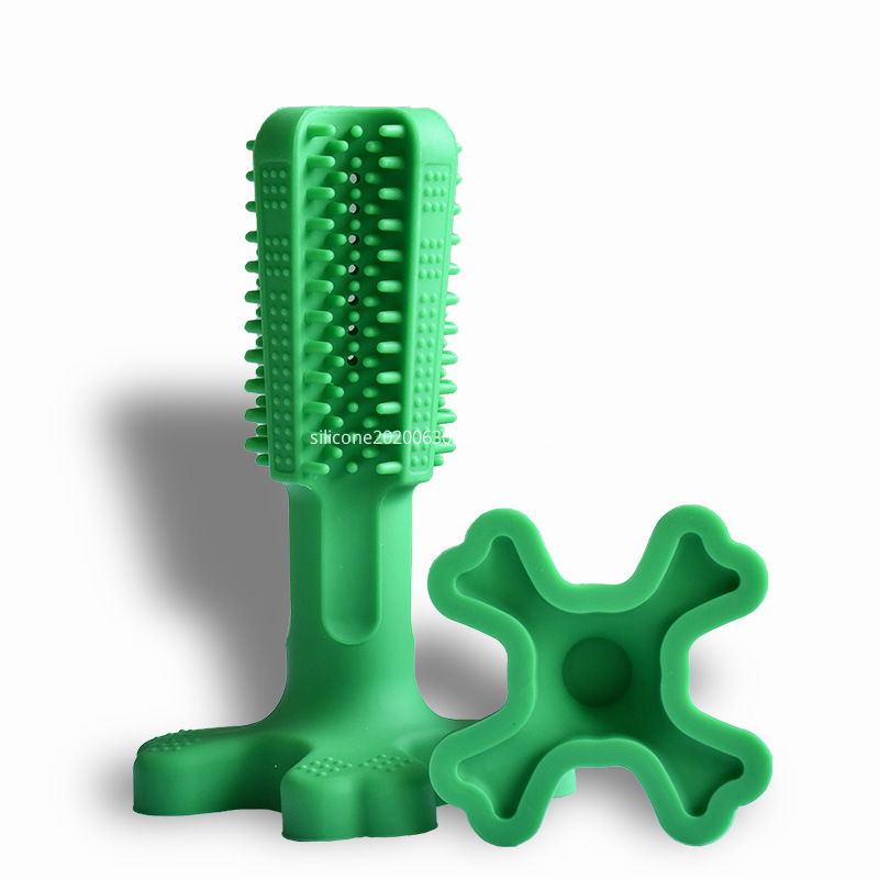 Silicone pet toothbrush
