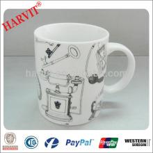 fine bone china cups mugs /plain white porcelain mugs/Printing New Bone China mug