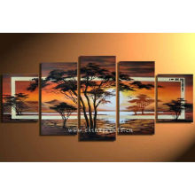 Modern Pine Tree Canvas Oil Painting By Handpainted